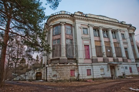 An abandoned old mansion in Russia.Estate Demidovs in Thais