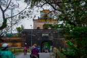 The palace gate, Imperial Palace moat, Vietnam,Hue