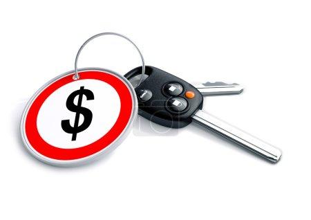 Photo pour Concept illustrant les implications financières de l'industrie de la fabrication et de la vente de véhicules et son impact sur l'investissement et la croissance . - image libre de droit