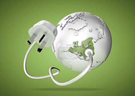 Electrical plug connects to Europe and provides it with electrical energy to power the homes and industries.