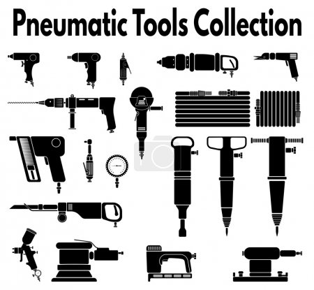 Pneumatic tools silhouette collection