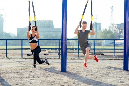 Group of people exercising outdoor