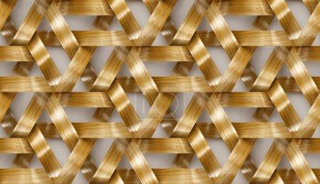 Photo pour Rayures en bois entrelacées texture 3d. Matériau chêne bois. Texture réaliste sans couture de haute qualité. - image libre de droit