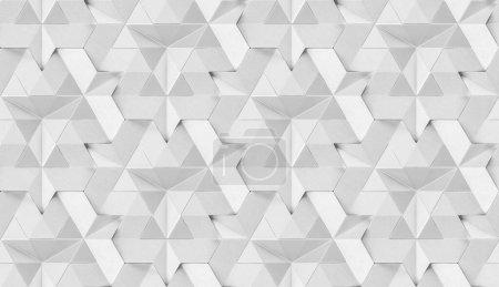 Photo pour Tuiles 3D en cuir blanc avec élément interne blanc brillant. Texture réaliste sans couture de haute qualité. - image libre de droit