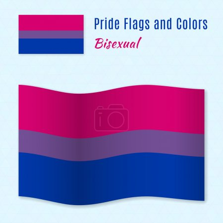 Bisexual pride flag with correct color scheme.