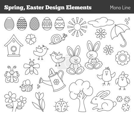 Set of Easter design elements