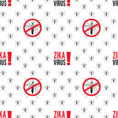 Seamless pattern with aedes mosquitos Texture of insects  Healthcare concept Pattern warning about dangerous Zika virus Black and red design elements on white background