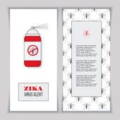 Set of vertical banners posters or flyers over mosquito pattern Insect repellent canister with forbidden no mosquito sign Black and red design elements on a white background Healthcare concept