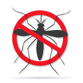 Zika alert banner poster flyer with aegypti aedes mosquito silhouette Forbidden no mosquito sign High quality graphic design elements isolated on white background with shadow Healthcare concept