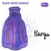 Arabic woman head wear Burqa
