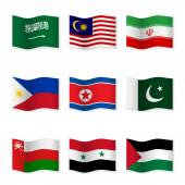 Waving flags of different countries 5