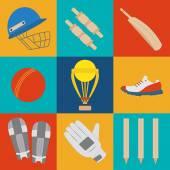 Cricket game vector concept