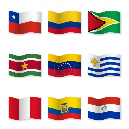Waving flags of different countries 11