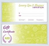 Spa massage gift certificate template