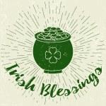 Saint Patricks Day card, poster on grunge backgrou...