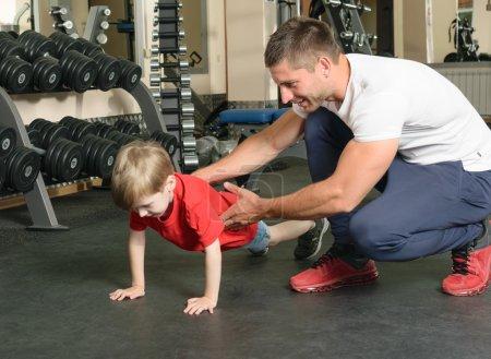 man coached by boy