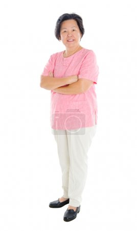 Photo for Full body shot of asian senior woman - Royalty Free Image