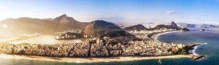 Rio de janeiro Panoramic view of Ipanema beach
