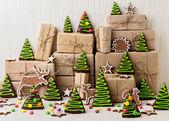 Silvester und Weihnachten Lebkuchen Bäume (Ingwer und Honig coo