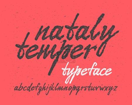 Handwritten expressive font