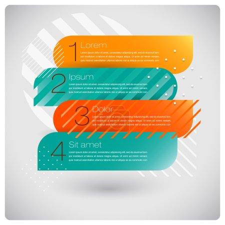 Illustration for Vector modern info graphics options set for business presentation - Royalty Free Image