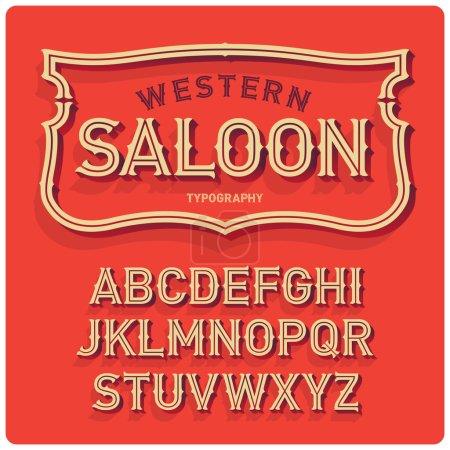 Vintage western style emblem