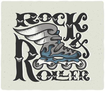 """Rock & Roller ""composition de lettres vintage"