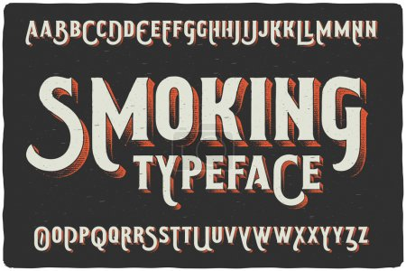 """Smoking"" vintage typeface"
