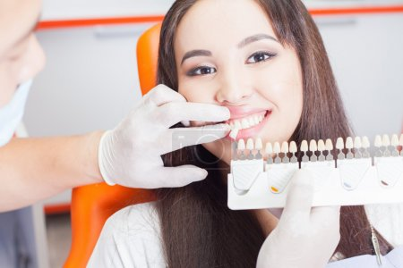 Beautiful asian woman smile with healthy teeth whitening