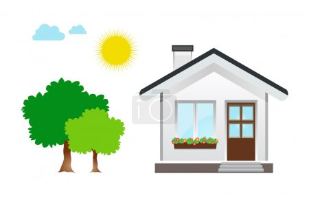 Illustration for This image is a vector file representing a House Icon vector design illustration. - Royalty Free Image