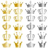 Gold and silver crown set