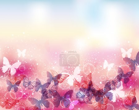 background of butterflies