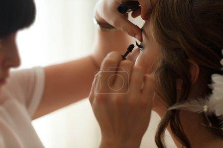 pretty stylish young bride