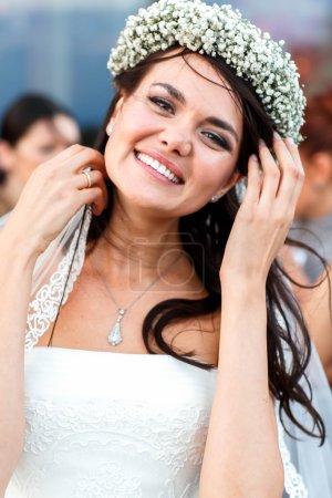 happy elegant cute stylish bride