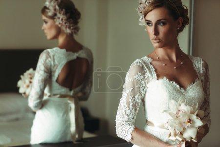 Beautiful gorgeous stylish bride