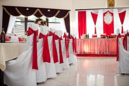 elegant bewirteter Hochzeitssaal