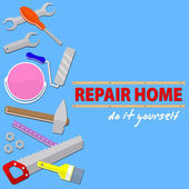 Logo house remodel service  tools to repair  design of  banners with tools to repair  the inscription repair home do it yourself