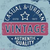 Casual urban vintage stamp