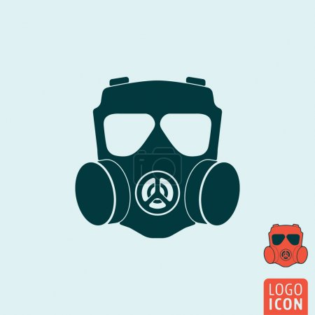 Illustration for Gas mask icon. Gas mask symbol. Respirator icon isolated. Vector illustration - Royalty Free Image