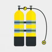 Diving aqualung icon