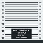 Police mugshot Police lineup on white background Vector illustration