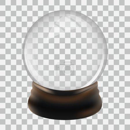 Illustration pour Modèle de globe de neige vide. Illustration vectorielle . - image libre de droit