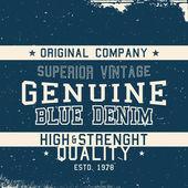 Vintage deim label