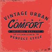 T-shirt print design Comfort zone vintage stamp poster Printing and badge applique label t-shirts Vector illustration