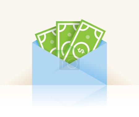 Money - dollar cash banknotes in envelope