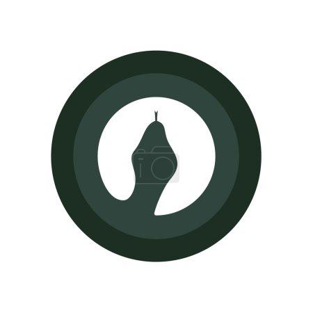 Illustration pour Cobra Serpent tête volume logo minimalisme éléments de modèle de conception vectorielle pour votre application ou l'identité de l'entreprise art - image libre de droit