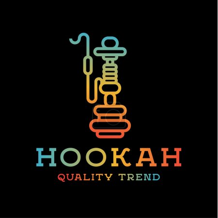 Shisha hookah for tobacco smoking and mixtures your company brand, quality gradientyny contour logotype