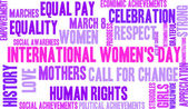 International Womens Day Word Cloud