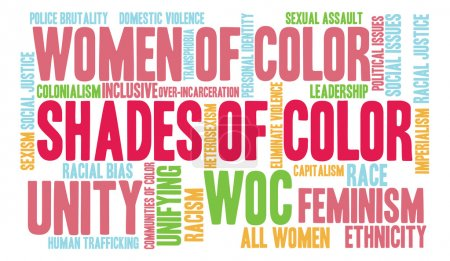 Shades Of Color Word Cloud
