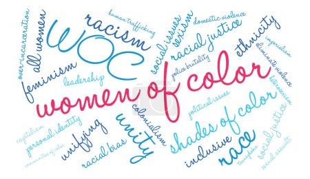 Women Of Color Word Cloud